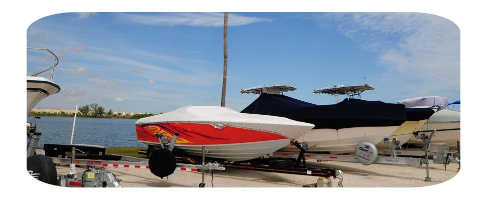 Crystal Lake Boat And RV Storage Pompano Beach, FL.   Outdoor Boat Storage  And RV Storage